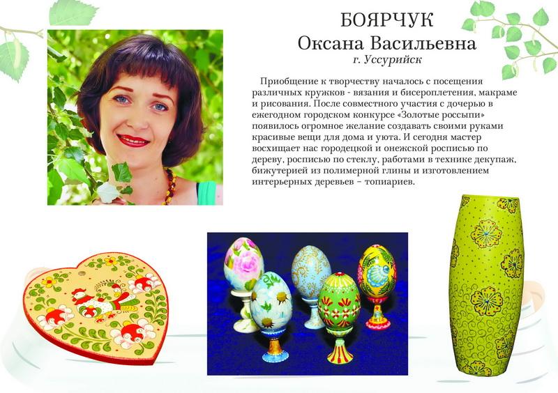 Боярчук Оксана Васильевна