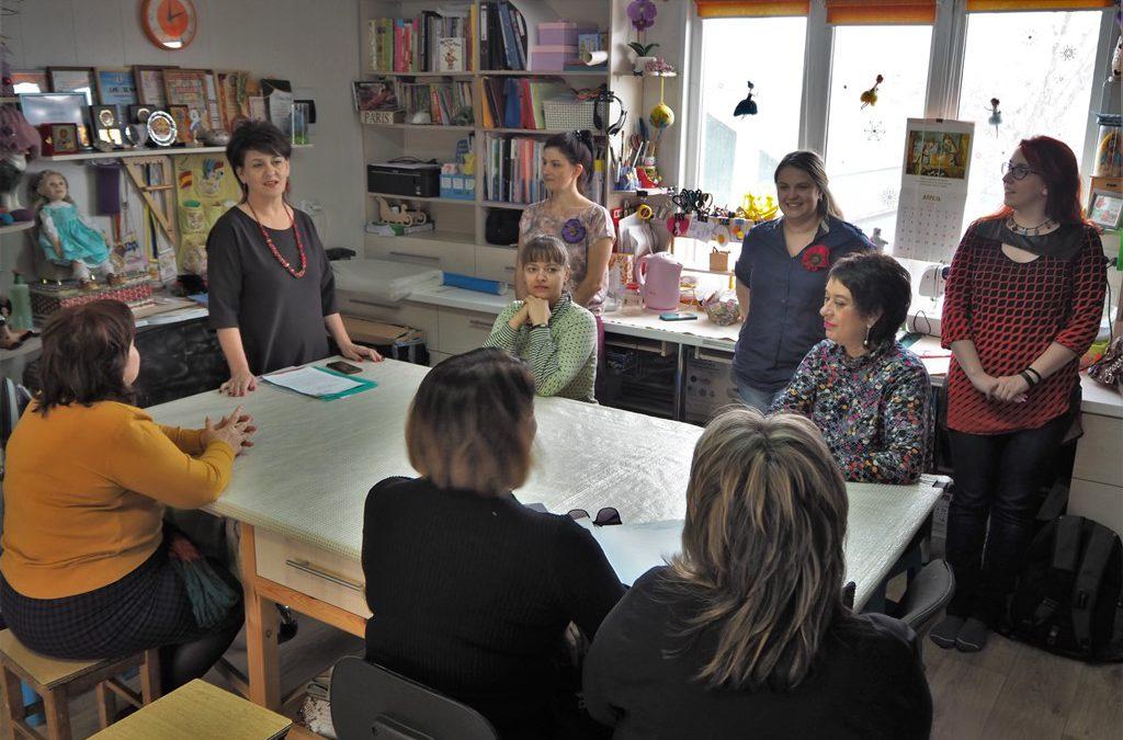 Совет мастеров в мастерской Евгении Бочкаревой