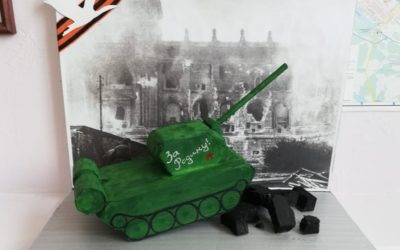 Работа Пестерева Александра «Т-34» на конкурс «Монументы Победы»
