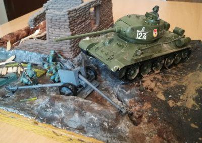 Работа Сафоненкова Степана «Легенда Т-34» на конкурс «Монументы Победы»