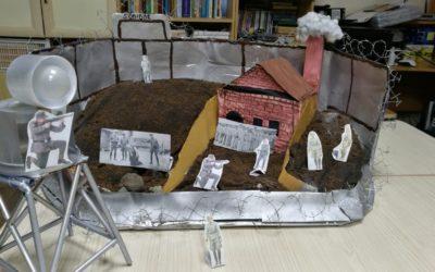 Работа Харисовой Е.Н. и Бяшимовой Л.Г.  «Собибор – лагерь смерти» на конкурс «Монументы Победы»
