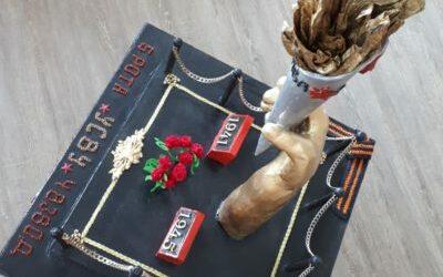 Работа Панкратов Никита «Факел Победы» на конкурс «Монументы Победы»