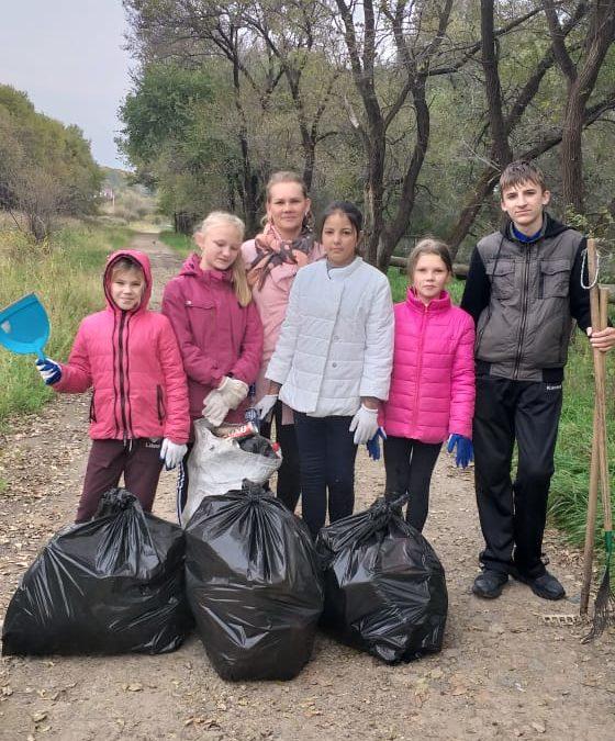Акция «Чистые берега Репьевки»