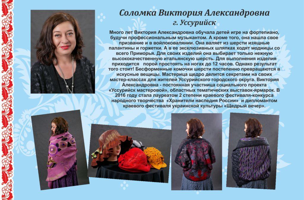 Соломка Виктория Александровна