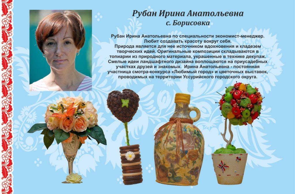 Рубан Ирина Анатольевна