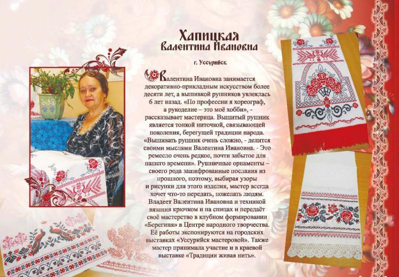 Хапицкая Валентина Ивановна