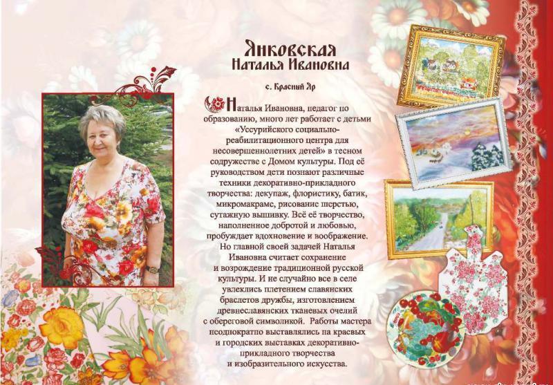 Янковская Наталья Ивановна