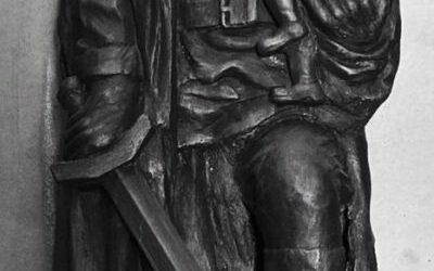 Работа Оганеса Аревян «Воин освободитель» на конкурс «Монументы Победы»
